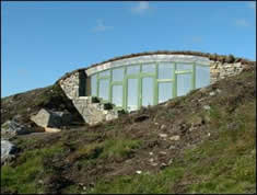 Earth sheltered dwellings constructed by Polarwall